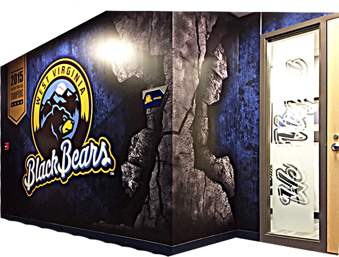West Virginia Black Bears Wall Wrap